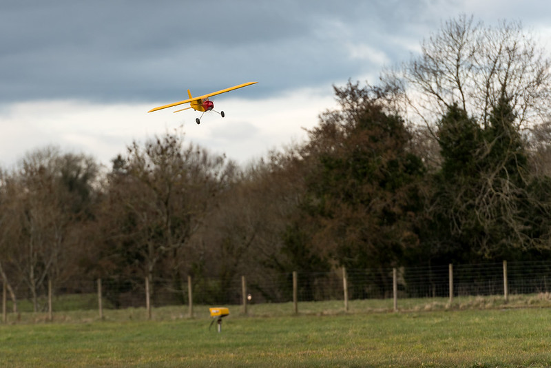 Alan flying a plane he has converted from petrol to electric.