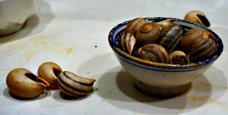 Moroccan snails in a warm spiced broth
