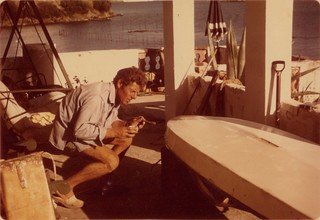 Jim Crafer working on 'Whisper', 1975 Mahon