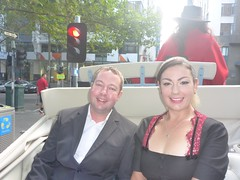 James and Dee in the carriage