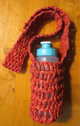 Vintage Red Plastic Water Bottle Holder
