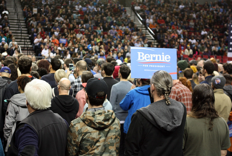 Bernie Sanders rally in Portland