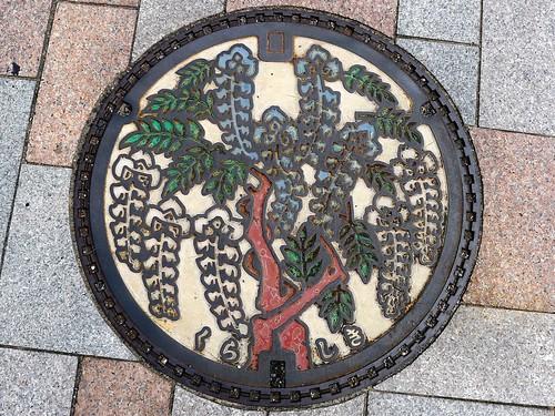 Kurashiki Okayama, manhole cover 3 (岡山県倉敷市のマンホール3)