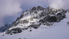 Piz Sella3500m z lodowca Vedrtetta di Scerscen
