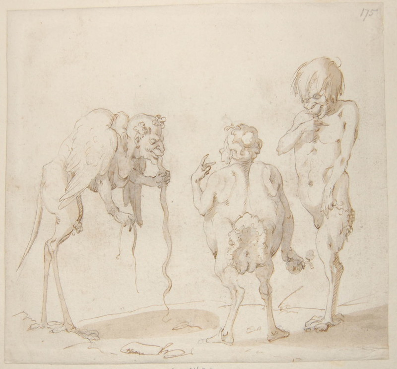 Arent van Bolten - Monster 175, from collection of 425 drawings, 1588-1633