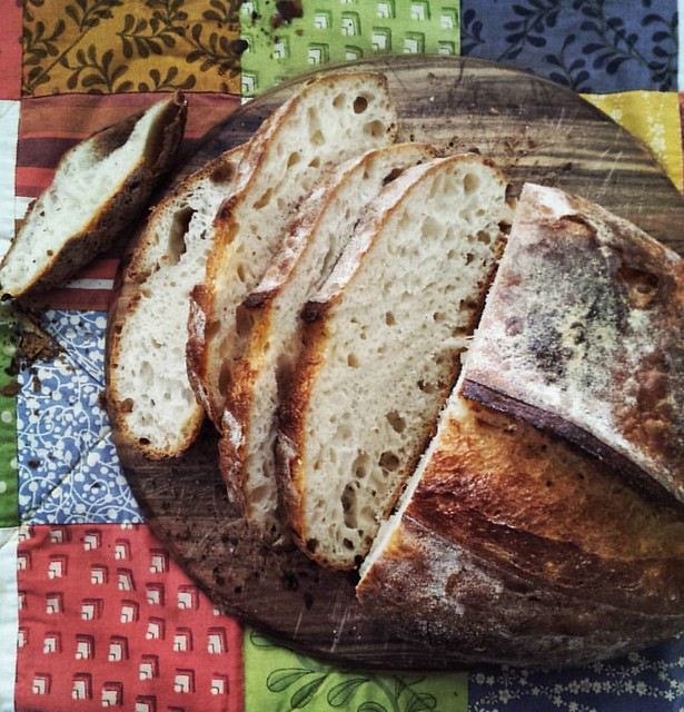 This loaf was pushed to its limits when I bulk fermented it for 5 DAYS! It still baked up beautifully this morning - Sourdough always amazes me,  and I love that!