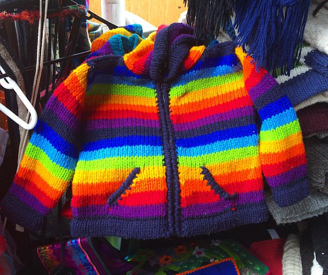 Awww I want this rainbow sweater in my size! 🌈
