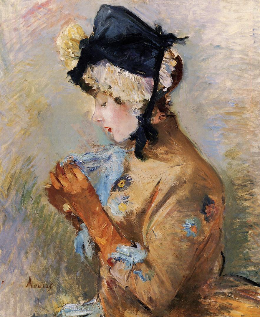 Woman Wearing Gloves ny Berthe Morisot, 1885