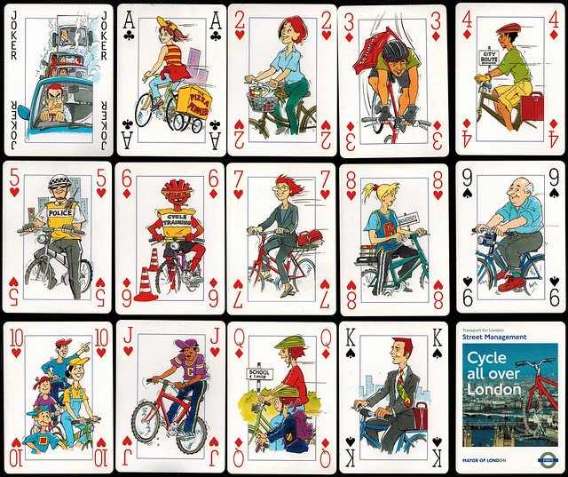 Transport for London Street Management playing cards, c. 2003