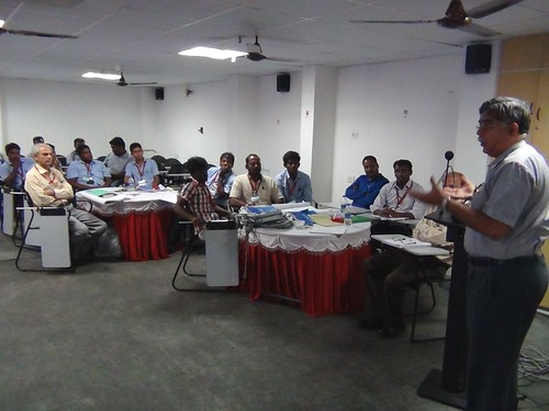 Mr. S. Ramachandran, Executive Director of Super Auto Forge (SAF) addressing the SMEs during SCORE training in Chennai, India