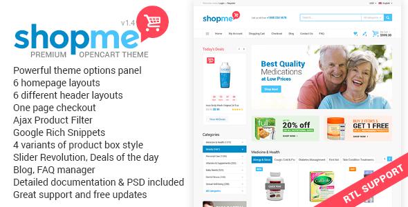 Themeforest ShopMe v1.4 - Multipurpose Opencart Theme