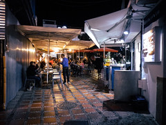Evening restaurant scene