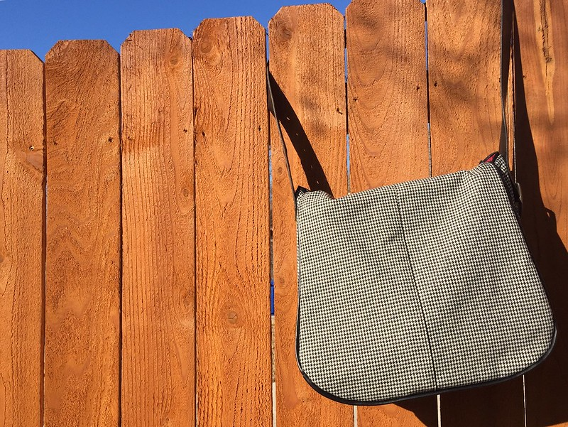 Houndstooth Messenger Bag - After