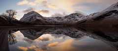 Buttermere at dawn panorama