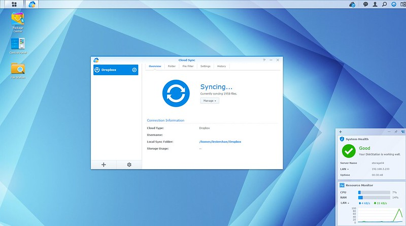 DSM - Cloud Sync - Syncing