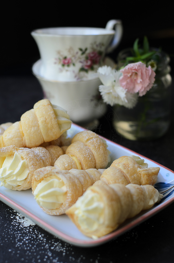 Custard and Cream Horns