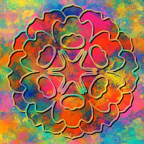 Digital mandala collage