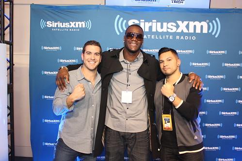 Heavyweight champ Deontay Wilder with Covino & Rich