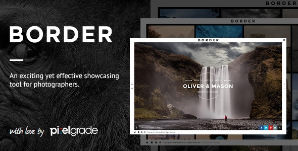 ThemeForest BORDER v1.7.0 - A Delightful Photography WordPress Theme