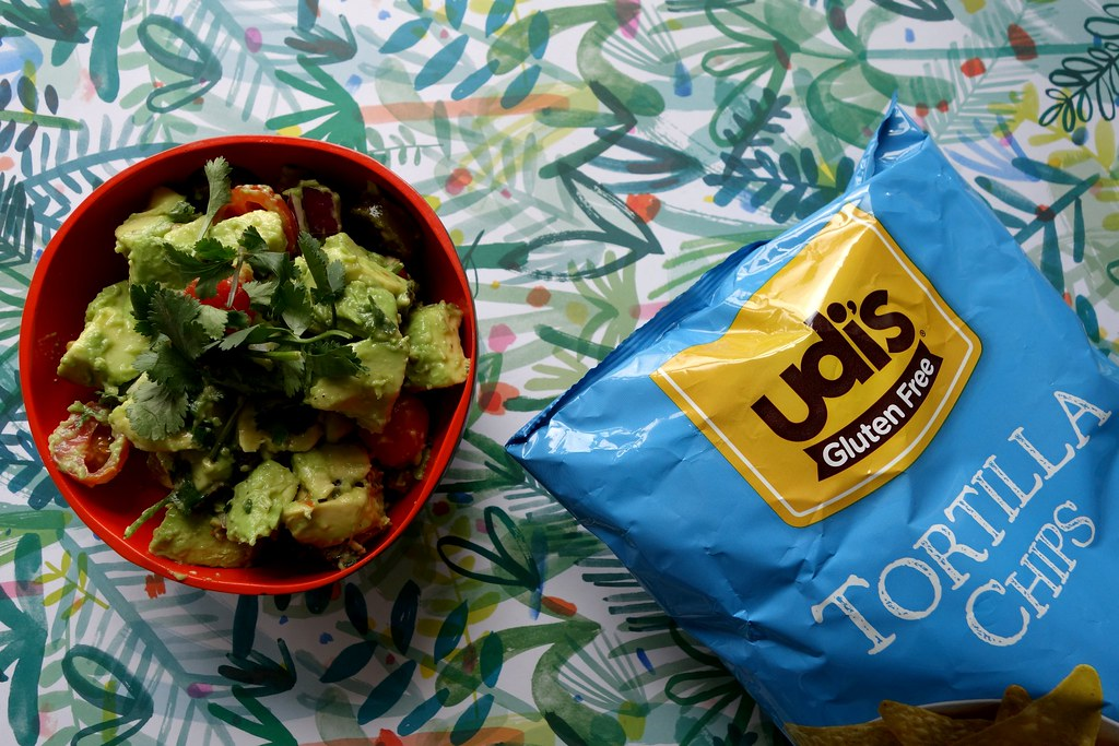 Guacamole Islandbell with Udi's Gluten Free Tortilla Chips