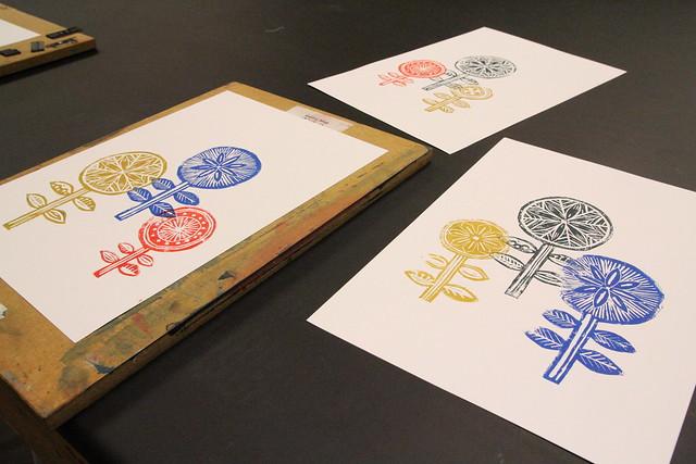 Process studios lino printing