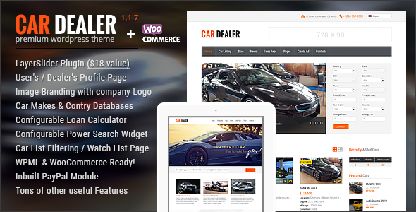 Car Dealer v1.4.2 – Automotive Responsive WordPress Theme