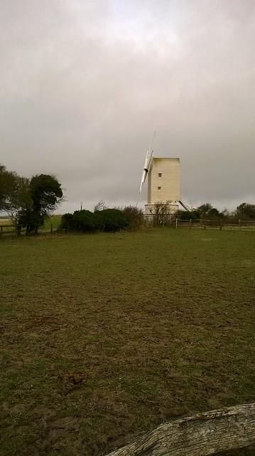 Mill, sideways on