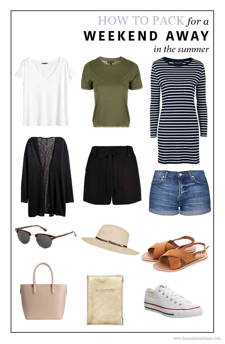 What to pack for a weekend away - Summer version