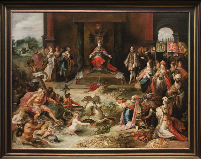 Allegory on the Abdication of Emperor Charles V in Brusseles, Frans Francken II, c. 1630-40