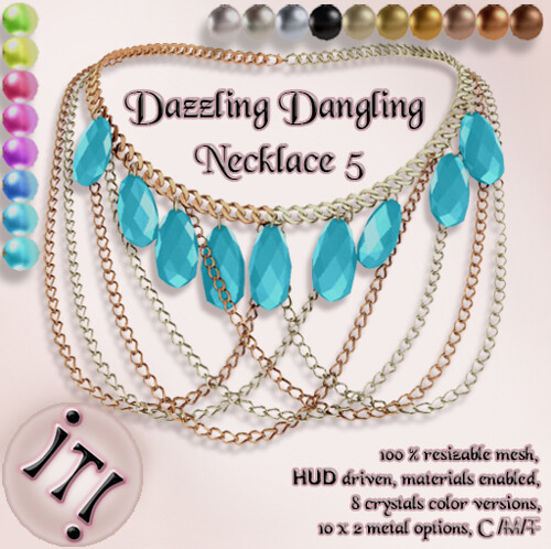 !IT! -  Dazzling Dangling Necklace 5 Image