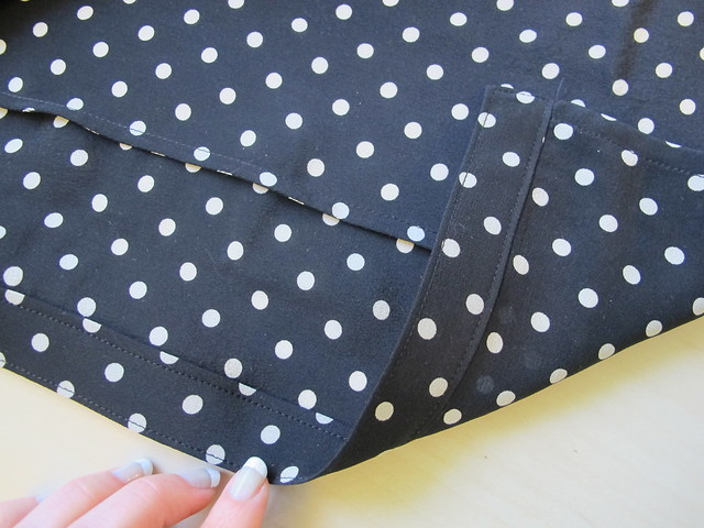 Silk Tie Blouse - button placket