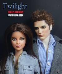Twilight repaint Mattel dolls