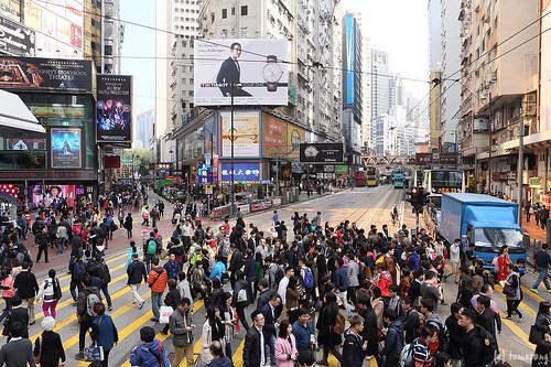 crosswalk at Causeway Bay