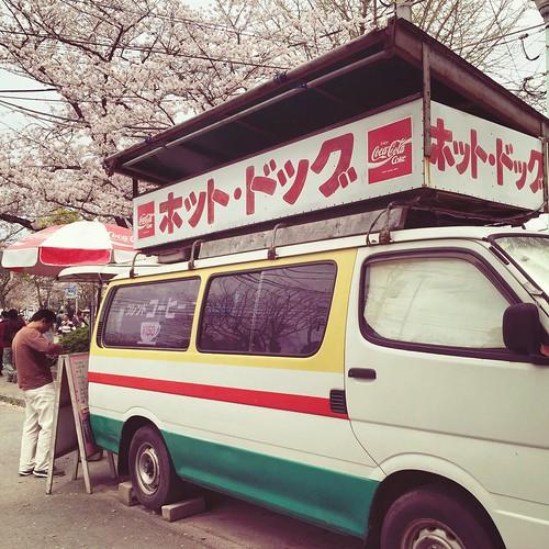 ホットドッグの販売車