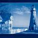 Cyanotype: Marblehead Lighthouse