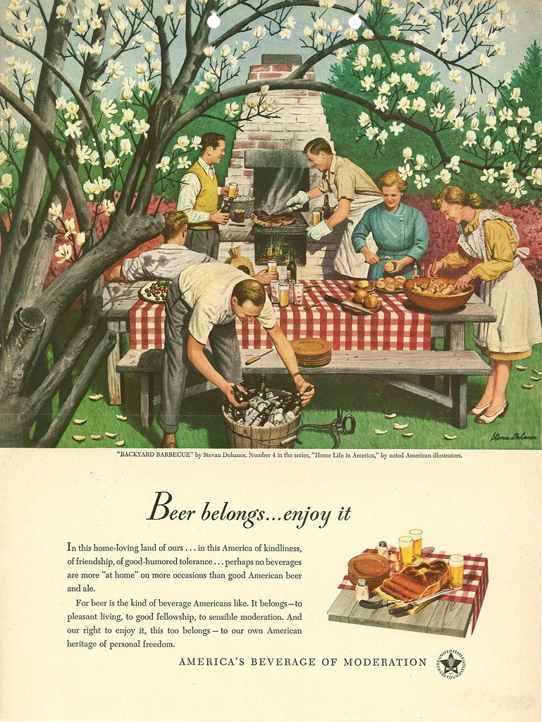 beer in ads 1873 backyard barbecue brookston beer bulletin
