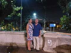 Dee and James at the end of Paulista Avenue