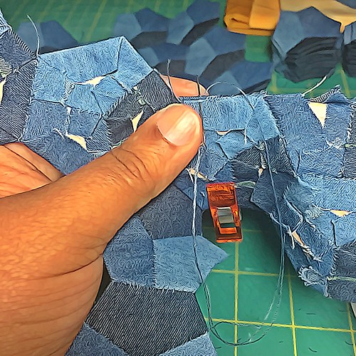 Denim Hexagons