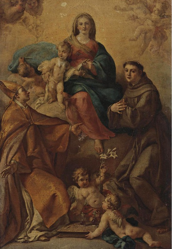 Fedele Fischetti - The Madonna and Child with Saints Anthony of Padua and Januarius (c.1760)