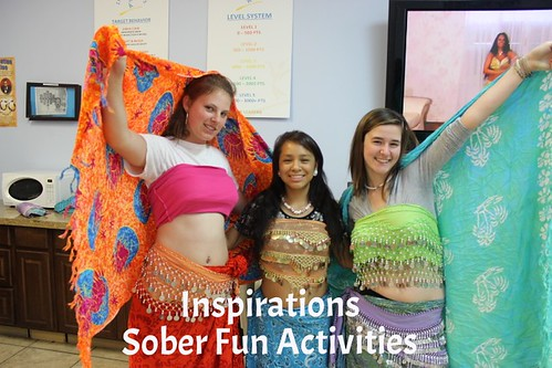 Teens at Inspirations try two new sober fun activities! thumbnail