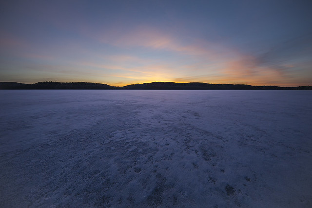 Aylen Lake Ice and Sunrise