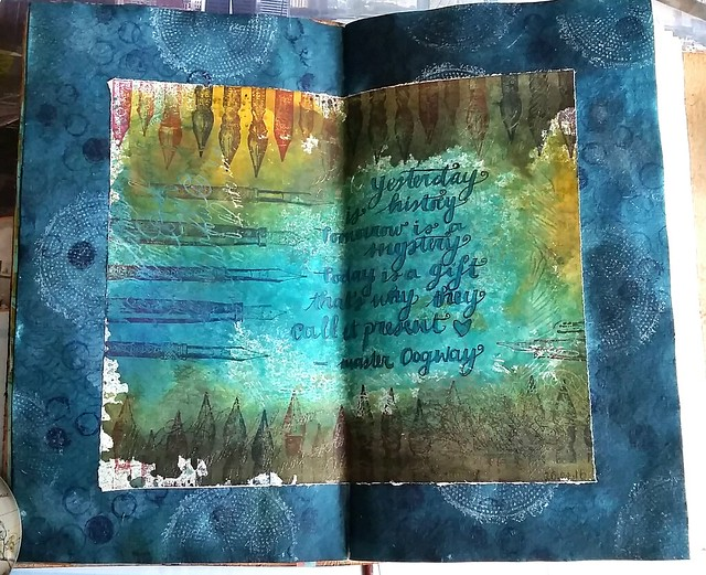 Today is a gift - art journal