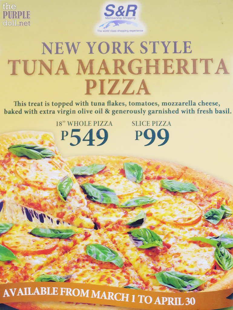 SnR New York Style Tuna Margherita Pizza