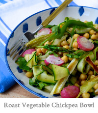 Roasted Spring Vegetable Chickpea Bowl