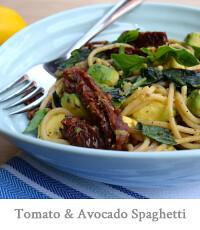 Sundried Tomato & Avocado Spaghetti