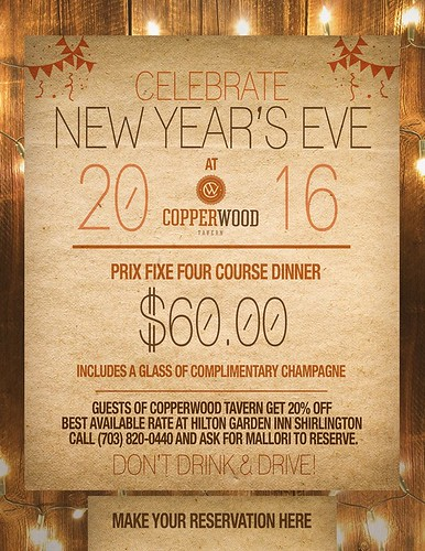New Year's Eve at Copperwood Tavern Shirlington