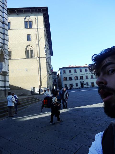 Half selfie in Pistoia