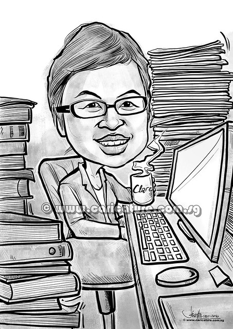 digital caricature for Straits Times Life (watermarked)