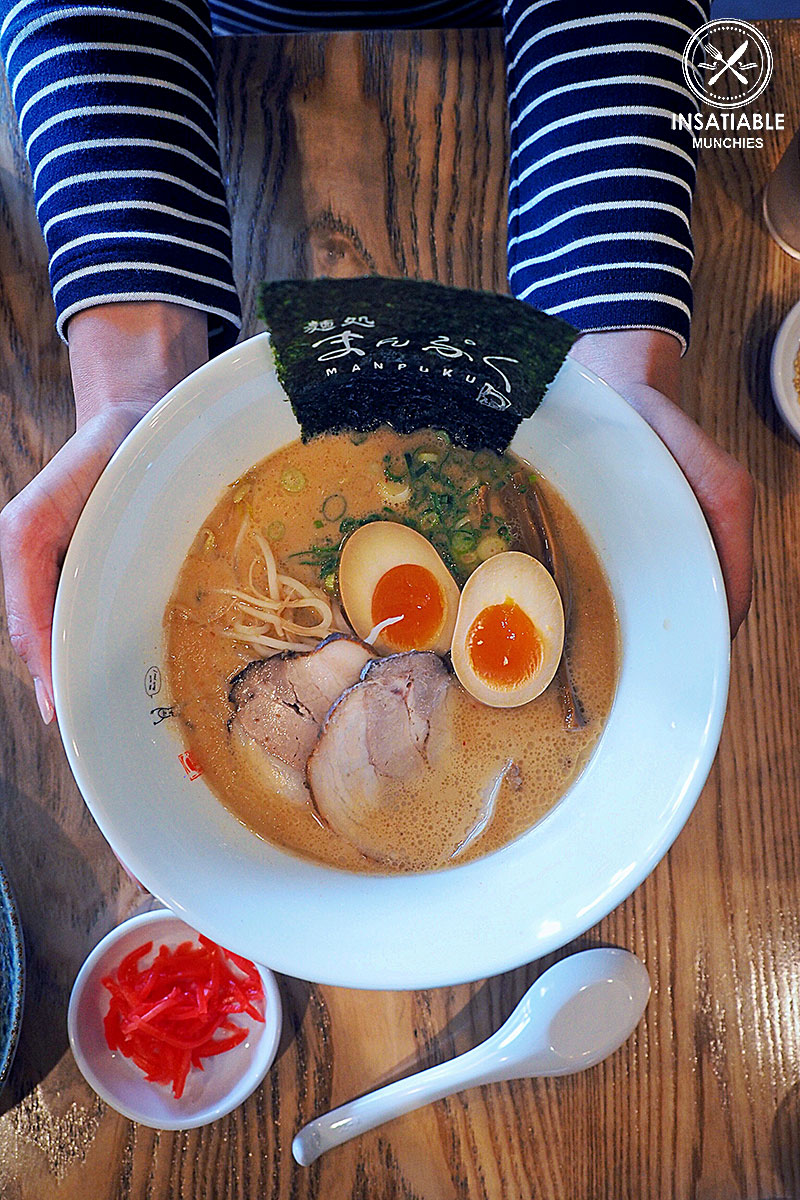 Kono Deaini Kanshashite Aijou To Jonetsu Konete Isshoukenmei Tsukutta Uchirano Icchan Sukina Manpuku Shiawase Ramen, $14.90 (pictured with added egg): Manpuku, Chatswood. Sydney Food Blog