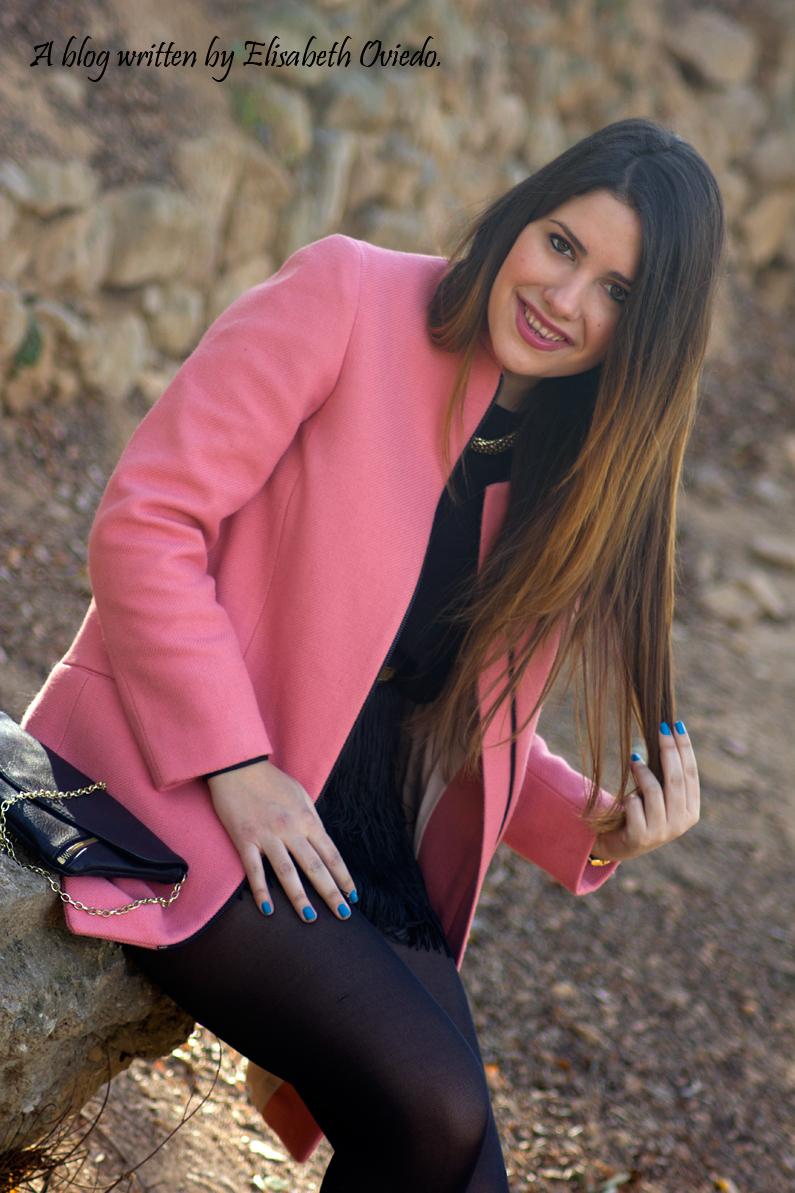 abrigo rosa ZARA falda bershka botines MARYPAZ HEELSANDROSES (6)